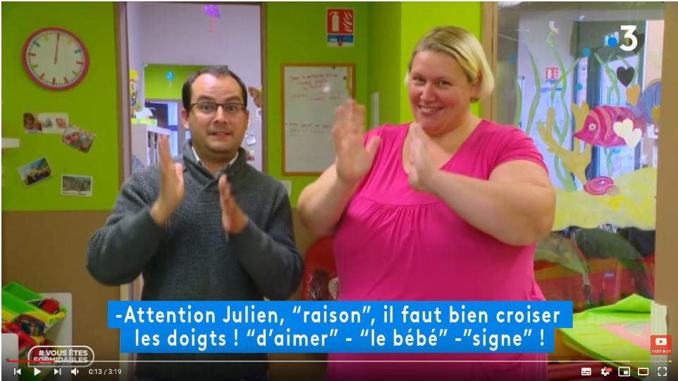 Anim Tes Mains-reportage bébé signe sur France 3